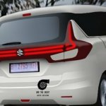 2018 Suzuki Ertiga (2018 Maruti Ertiga) rear three quarters rendering