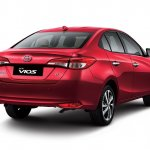 2018 Toyota Vios (Toyota Yaris sedan) rear three quarters
