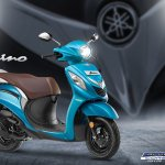 2018 Yamaha Fascino press Cyan