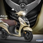 2018 Yamaha Fascino press Gold