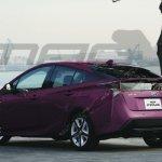 2019 Toyota Prius rear three quarters rendering