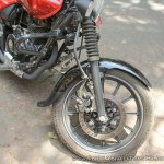Bajaj Avenger 180 Street test ride review front suspension