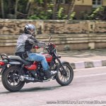 Bajaj Avenger 180 Street test ride review rear right quarter action