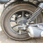 Bajaj Avenger 180 Street test ride review rear wheel