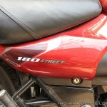 Bajaj Avenger 180 Street test ride review side panel logo