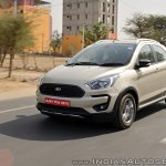 Ford Freestyle review left front three quarters tracking shot