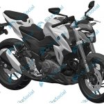 Haojue HJ300-A or Suzuki-GSX-S300 leaked patent front right quarter