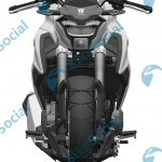 Haojue HJ300-A or Suzuki-GSX-S300 leaked patent front