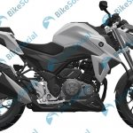 Haojue HJ300-A or Suzuki-GSX-S300 leaked patent right side