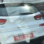 Hyundai i30 spied in India boot lid