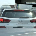 Hyundai i30 spied in India rear windshield