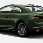 Indian-spec 2018 Audi RS 5 Coupe Sonoma Green Metallic rear three quarters