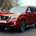 Nissan Terra Red Solid front three quarters