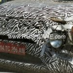 Production Tata H5X front fascia spy shot