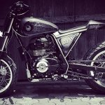 Royal Enfield Himalayan D-71 Fiddler by Bulleteer Customs left side