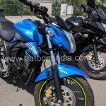 Suzuki Gixxer ABS Blue spied