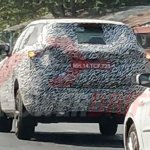 Tata H5X production version spotted test rear angle