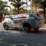 Tata H5X production version spotted test side angle view