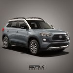 Toyota Vitara Brezza mini SUV dark teal render