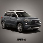 Toyota Vitara Brezza mini SUV grey render