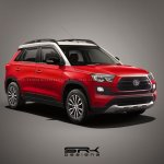 Toyota Vitara Brezza mini SUV red render