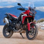 2018 Honda Africa Twin press front right quarter