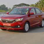 2018 Honda Amaze front three quarters dynamic