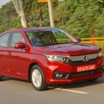 2018 Honda Amaze front three quarters right side dynamic