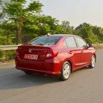 2018 Honda Amaze rear three quarters dynamic