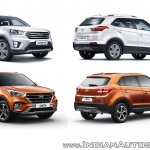 2018 Hyundai Creta vs 2015 Hyundai Creta - old vs new