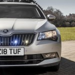 Armoured Skoda Superb Estate front fascia