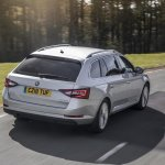 Armoured Skoda Superb Estate rear three quarters