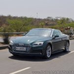 Audi A5 Cabriolet review front action shot