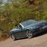 Audi A5 Cabriolet review front three quarters tilt