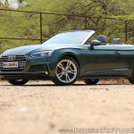 Audi A5 Cabriolet review front three quarters top down