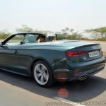 Audi A5 Cabriolet review rear action shot