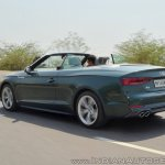 Audi A5 Cabriolet review rear three quarters action shot