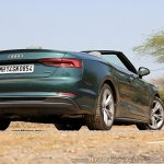 Audi A5 Cabriolet review rear three quarters top down