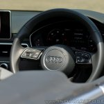 Audi A5 Cabriolet review steering wheel logo