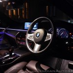 BMW 5-Series 530d review dashboard night shot