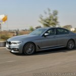 BMW 5-Series 530d review front side action shot