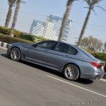 BMW 5-Series 530d review rear action shot tilt