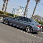 BMW 5-Series 530d review rear action shot tilt