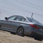 BMW 5-Series 530d review rear three quarters view