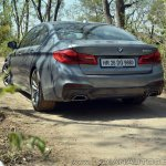 BMW 5-Series 530d review rear three quarters