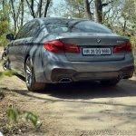 BMW 5-Series 530d review rear three quarters
