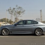 BMW 5-Series 530d review side action shot
