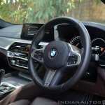 BMW 5-Series 530d review steering wheel