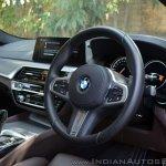 BMW 5-Series 530d review steering wheel