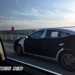 Facelifted Hyundai Elantra (Hyundai Avante) profile spy shot